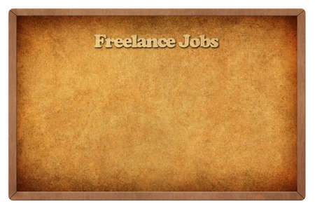Old Chalk Board with text freelance jobs photo
