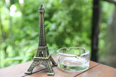 Exemplar: Eiffel model on table  Stock Photo