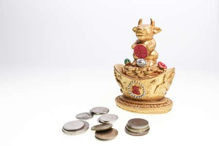 obedecer: diosa vaca y dinero Foto de archivo