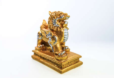 necromancer: Lion Chinese model, on white back ground