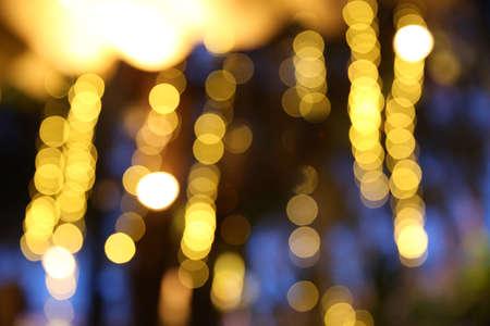 anochecer: Luces de la noche de la ciudad Khonkaen, Tailandia Foto de archivo