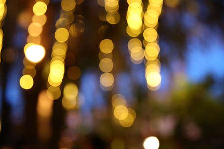 Luces de la noche de la ciudad Khonkaen, Tailandia Foto de archivo