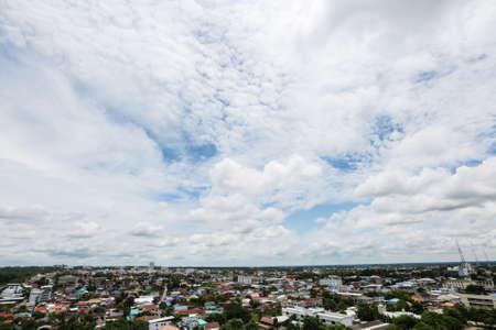 birds eye view: landscape of Khonkaen Thailand., Birds eye view Stock Photo