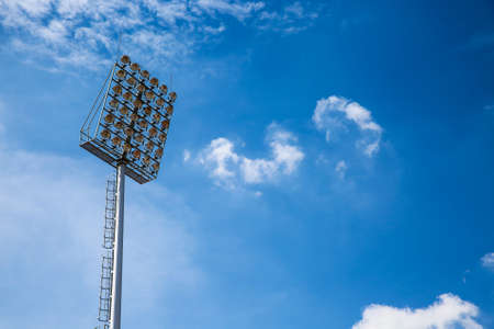 spotlight: Spotlight and blue sky