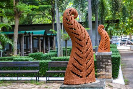 graden: earthenware Ornamental pillar Thai style at Graden.