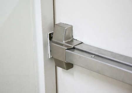 enclose: Fire doors., Fire exit., Open one way door.