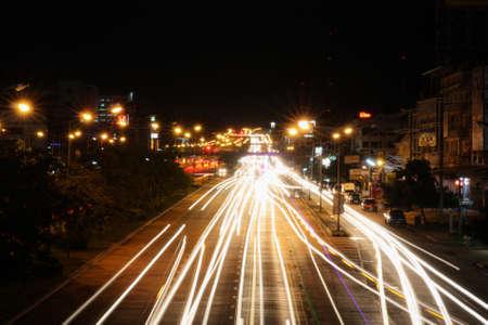emanate: Khon Kaen night shot. 26-08-2015. slow shutter. Editorial