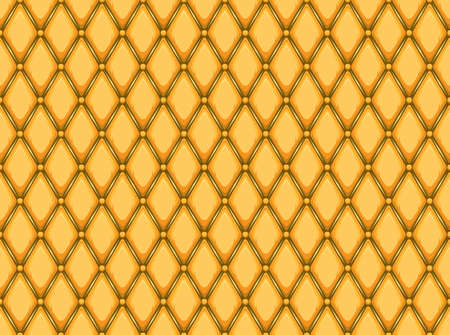 padded: Vector - Seamless pink repeating background of diamonds and dots, padded vinyl seat cushion, snake skin pattern Illustration