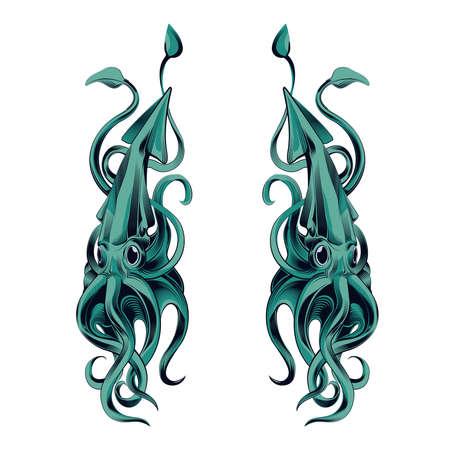 cuttlefish: Squid vector