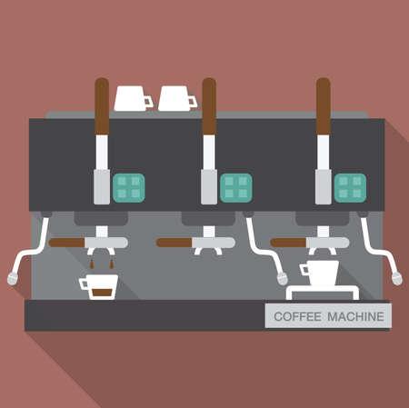 ways: Coffee machine 3 ways., Info graphic vector.
