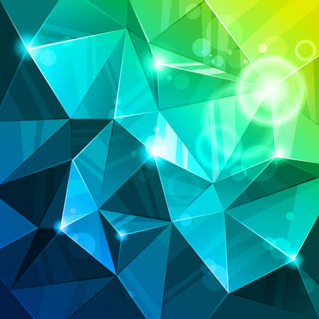 crystal background: poly light., Abstract background. Illustration