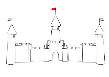 fortification: castle drawing