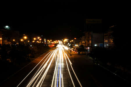 portage: Khon Kaen night shot. 26-08-2015. slow shutter. Editorial