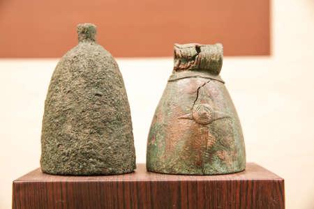 antiquity: bornze bell., at Khonkaen museum Thailand. Editorial