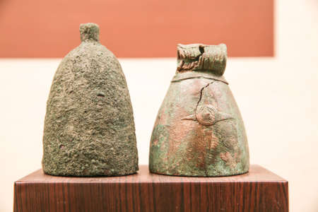 pronounce: bornze bell., at Khonkaen museum Thailand. Editorial