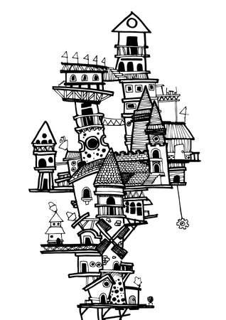 describe: MY CITY No.3., Illustator Drawing VECTOR