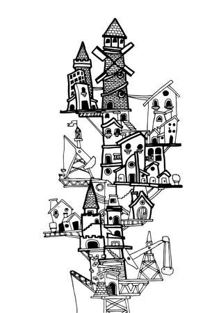 describe: MY CITY No.2., Illustator Drawing VECTOR