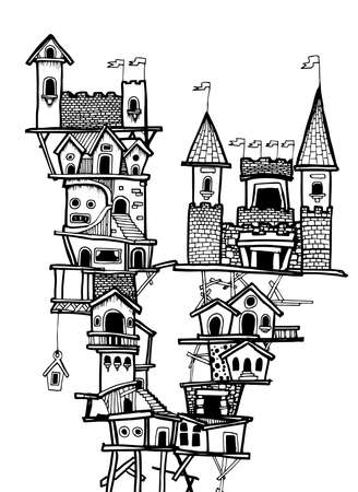 borough: MY CITY No.1., Illustator Drawing VECTOR