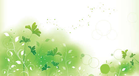 painterly effect: GREEN floral style textures with space