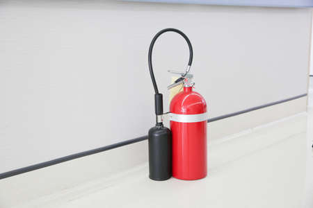 foam safe: Stock Photo - portable fire extinguisher tank for any safety accident