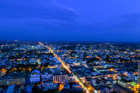 Top view Sunset time in Khonkaen, Thailand