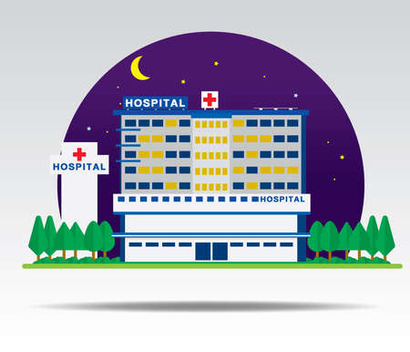 dusky: Night Hospital infographic vector.