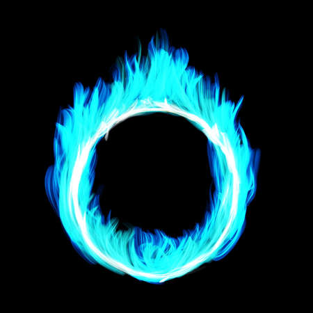 Blue Circle draw the fire