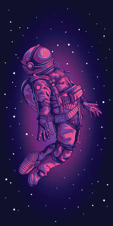 Spacesuit on space