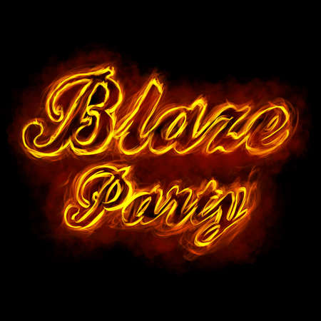Blaze Party Fire Font
