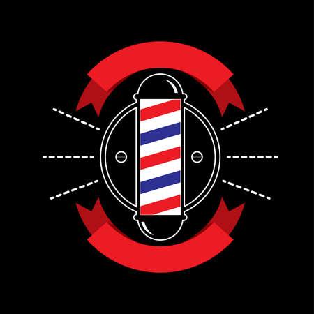 Barber shop Design logo black background.