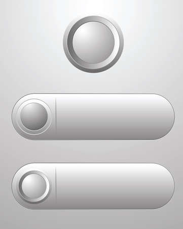 Three white blank button for icon design, element for design. 版權商用圖片 - 97929078