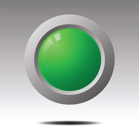 Green blank button for icon design., Element for Design.