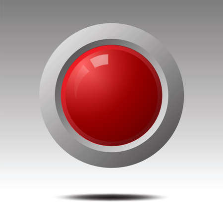 red blank button for icon design.  Element for Design. Vector illustration. Illustration