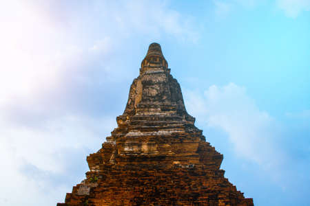 The Prang in Wat Chaiwattanaram temple in Ayutthaya Historical Park , Ayutthaya province, Thailand Stock Photo