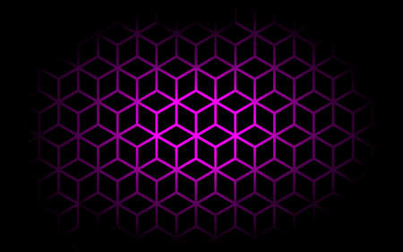 Deep Pink and black Geometry abstrac background.