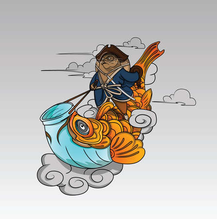 The Kung Fu sea lion on Fish and Cloud.