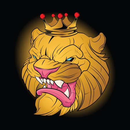 Glod ILion wear Crown Tattoo.