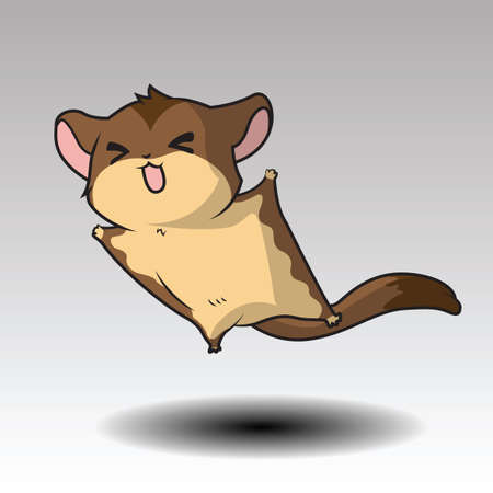 Cartoon Sugar glider Character. vector