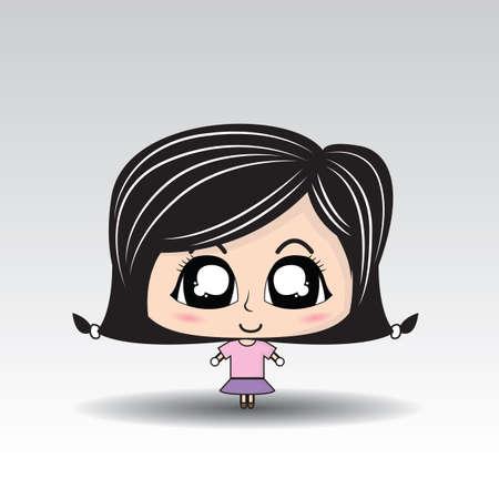 Black hair Girl Cartoon character