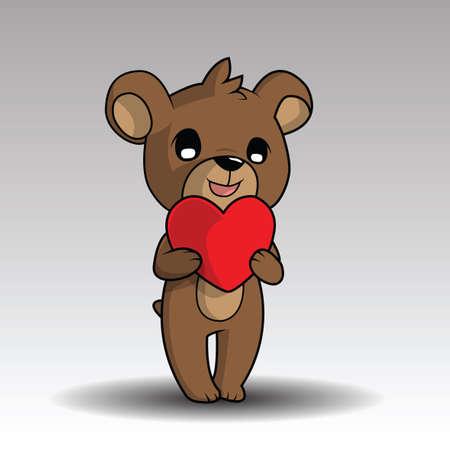 cute teddy bear on white background
