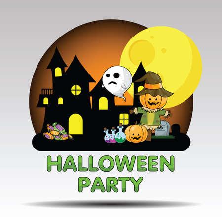 Cute Halloween Party., Halloween content.