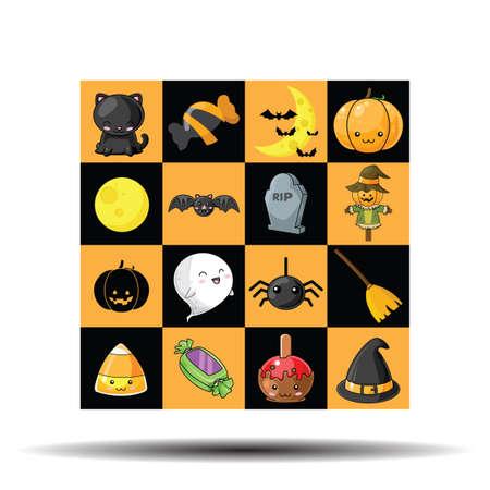 Cute Halloween pattern., Halloween content.