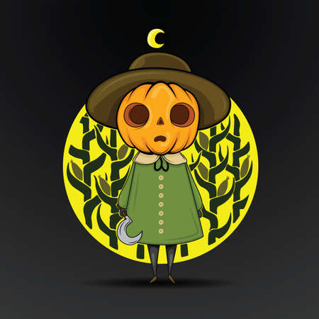 Cute Halloween Character and logo., Halloween content.