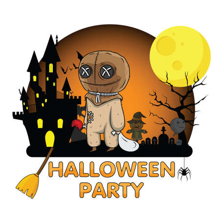 Cute Halloween Party., Halloween content.