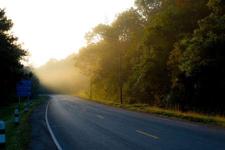 Nam Nao National Park Road in the morning., Phetchabun Province Thailand Reklamní fotografie