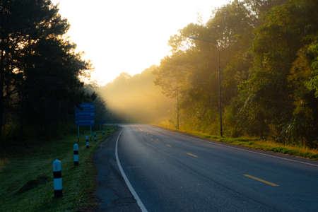 Nam Nao National Park Road in the morning., Phetchabun Province Thailand