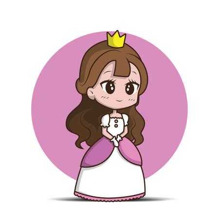Cute Little Girl Wearing a Princess