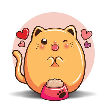 cute cat cartoon, Pet shop concept.