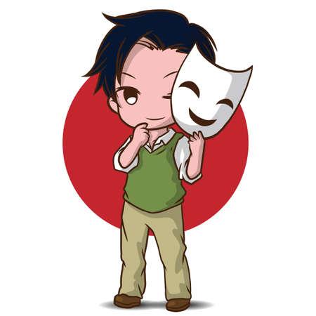 cute actor cartoon., job concept.