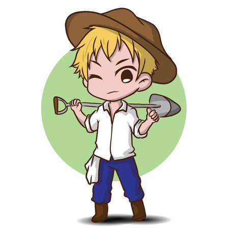 cute gardener character., job concept. Reklamní fotografie - 138098825